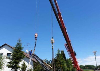 Bergungsarbeit auf Baustelle in Straubing