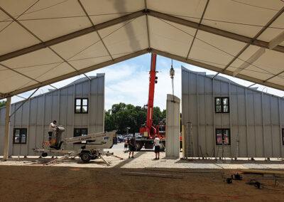 Gäubodenvolksfest-Zelt in Straubing von innen