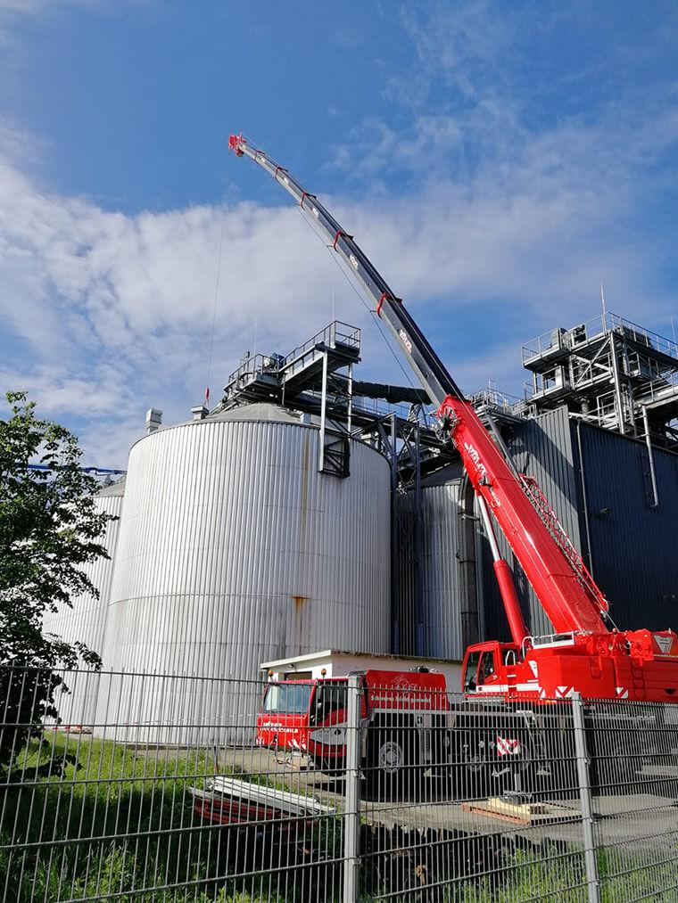 Teleskop-Mobilkrane bei Völkl in Straubing