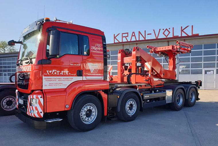 Garagentransport mit Kran Völkl in Straubing