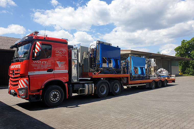 Maschinentransport in Straubing